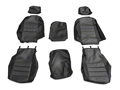 Fia Custom Fit Leatherlite Front Seat Cover - Gray (07-13 Silverado 1500 w/ Bench Seat)