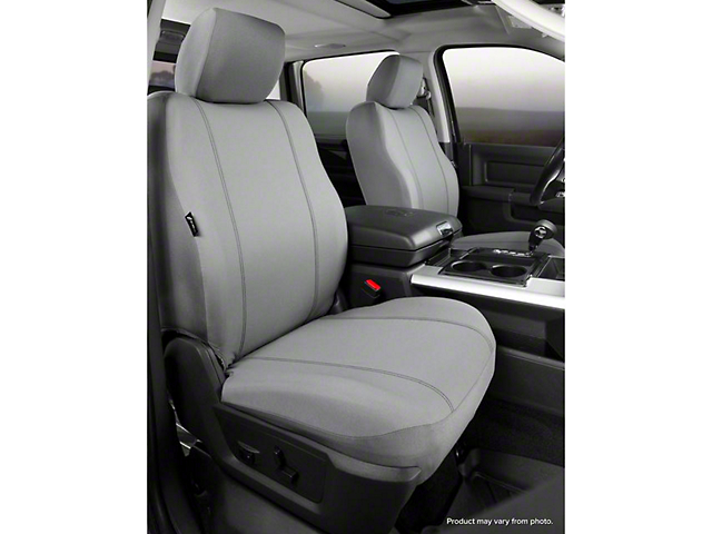 Fia Custom Fit Poly-Cotton Front Seat Covers - Gray (07-13 Silverado 1500 w/ Bucket Seats)