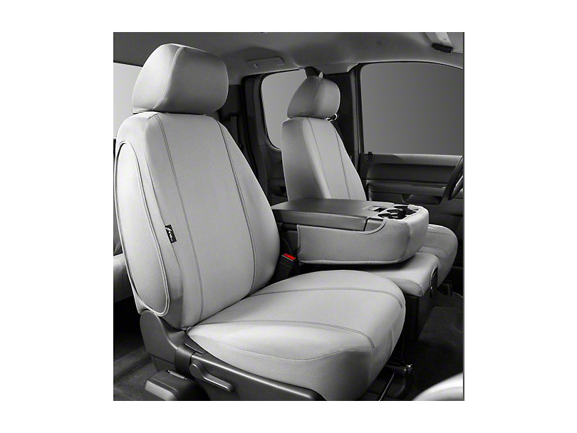 Fia Custom Fit Poly-Cotton Front Seat Covers - Gray (07-13 Silverado 1500 w/ Bench Seat)