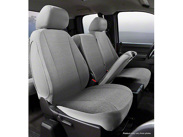 Fia Custom Fit Solid Saddle Blanket Front Seat Covers - Gray (07-13 Silverado 1500 w/ Bench Seat)