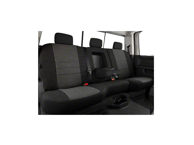 Fia Custom Fit Tweed Rear Seat Cover - Charcoal (07-13 Silverado 1500 Extended Cab, Crew Cab)