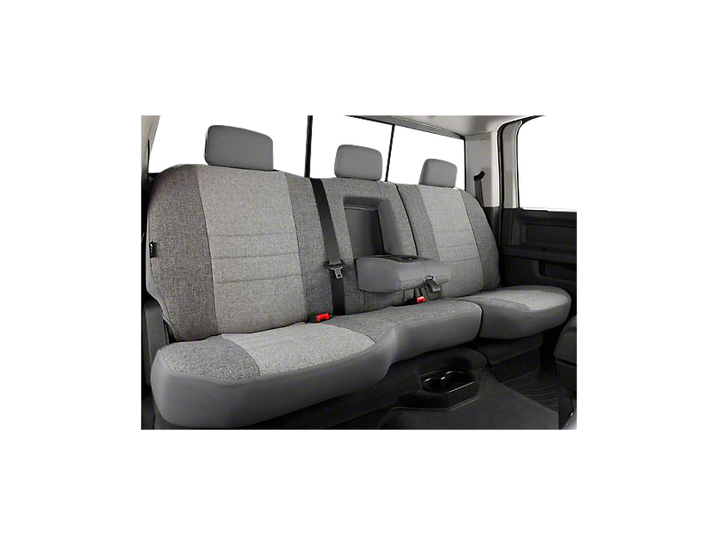Fia Custom Fit Tweed Rear Seat Cover - Gray (07-13 Silverado 1500 Extended Cab, Crew Cab)