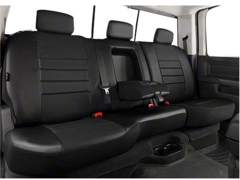 Fia Custom Fit Leatherlite Rear Seat Cover - Black (07-13 w/ Bench Seat & Adjustable Headrests)