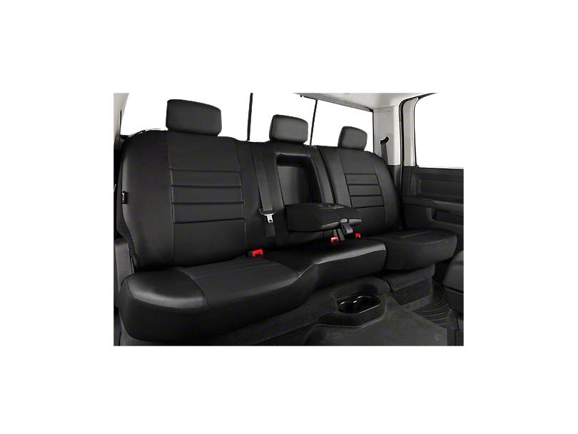 Fia Custom Fit Leatherlite Rear Seat Cover - Black (07-13 Silverado 1500 Extended Cab, Crew Cab)