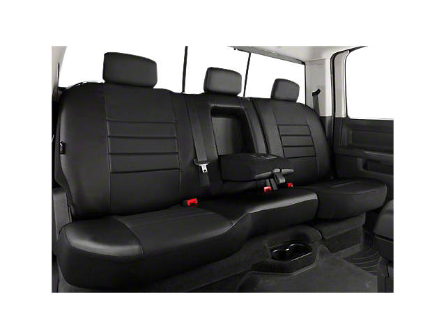Fia Custom Fit Leatherlite Rear Seat Cover - Black (07-13 Silverado 1500 Extended Cab, Crew Cab)