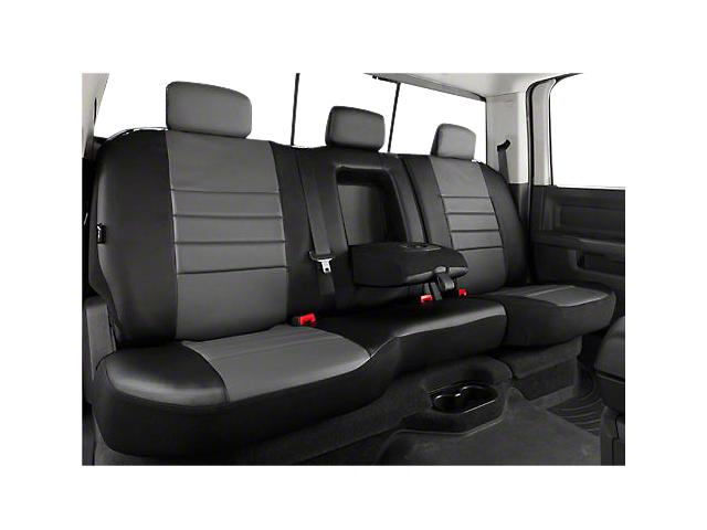 Fia Custom Fit Leatherlite Rear Seat Cover - Gray (07-13 Silverado 1500 Extended Cab, Crew Cab)
