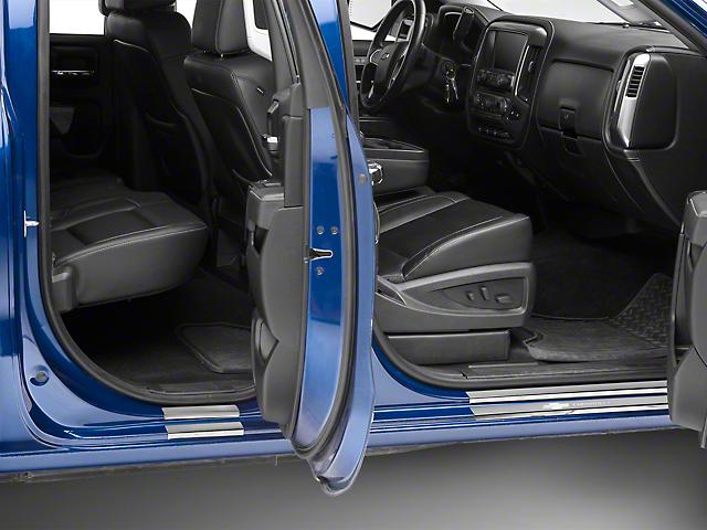 Putco Black Platinum Door Sills w/ Chevrolet Logo (14-18 Silverado 1500)