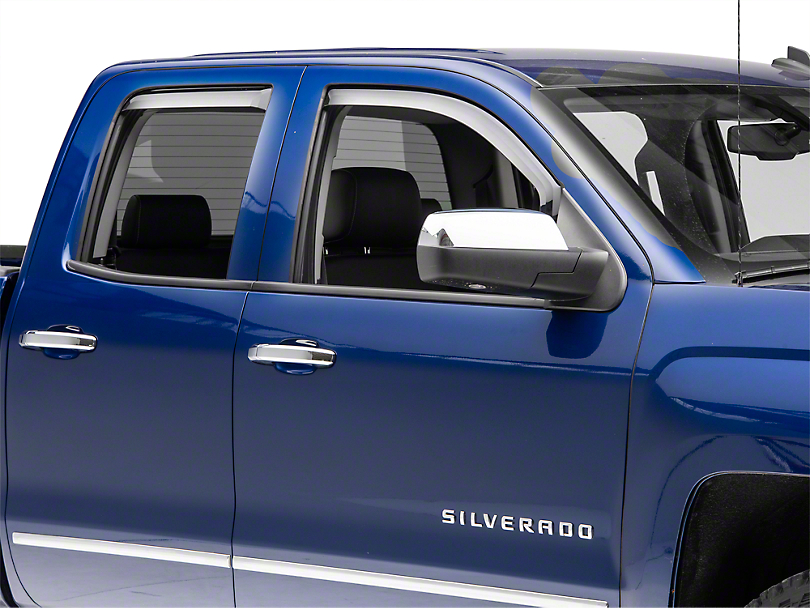 Putco Tinted Element Window Visors - Channel Mount - Front & Rear (14-18 Silverado 1500 Double Cab, Crew Cab)