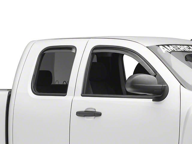 Putco Tinted Element Window Visors - Channel Mount - Front & Rear (07-13 Silverado 1500 Extended Cab, Crew Cab)