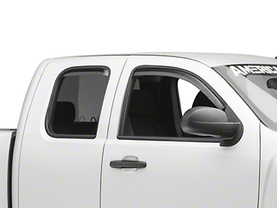 Putco Element Tinted Window Visors - Channel Mount - Front & Rear (07-13 Silverado 1500 Extended Cab, Crew Cab)