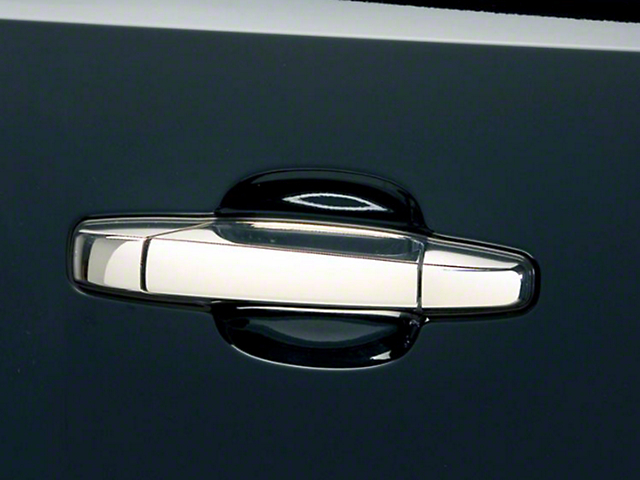 Putco Chrome Door Handle Covers w/o Passenger Keyhole - Center Section Only (07-13 Silverado 1500) & Putco Silverado Chrome Door Handle Covers w/o Passenger Keyhole ...