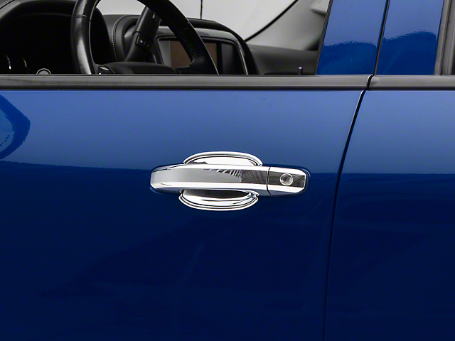 Door Handle Covers; Buckets Only; Chrome (14-18 Silverado 1500)
