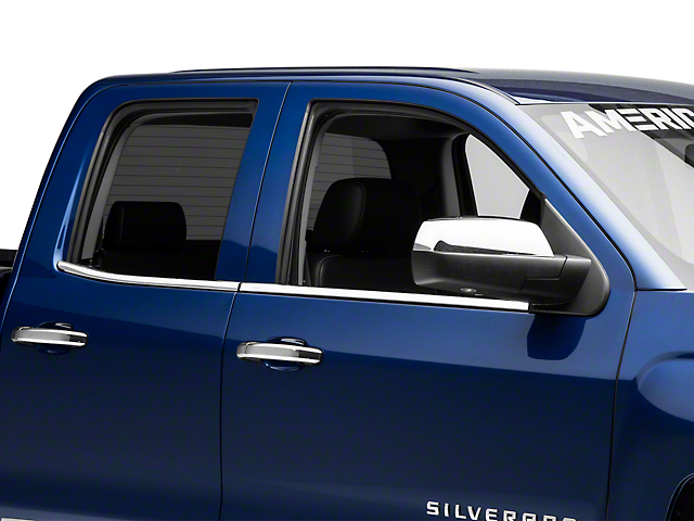Stainless Steel Window Trim W Bowtie Logo 14 18 Silverado 1500
