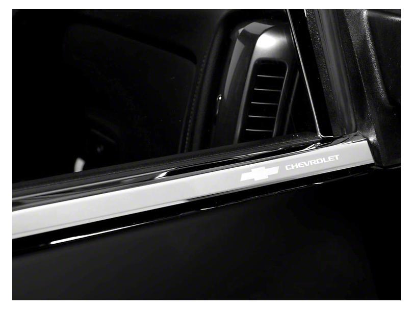 Putco Stainless Steel Window Trim w/ Bowtie Logo (07-13 Silverado 1500 Extended Cab, Crew Cab)