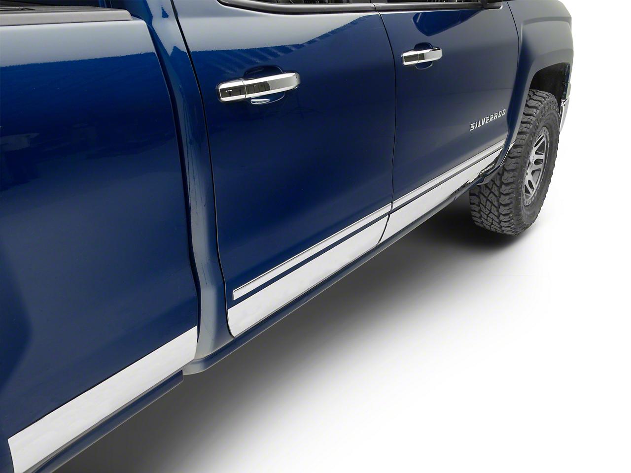 Putco Stainless Steel Rocker Panels w/ Bowtie Logo (14-18 Silverado 1500)