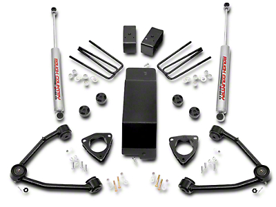 Rough Country 3.5 in. Suspension Lift Kit w/ Upper Control Arms (07-16 4WD Silverado 1500 w/ Stock Cast Steel or Aluminum Control Arms)