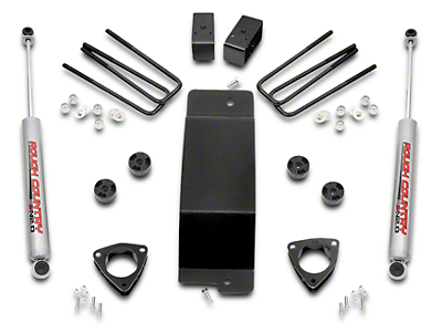Rough Country 3.5 in. Suspension Lift Kit w/o Upper Control Arms (07-18 4WD Silverado 1500 w/ Stock Cast Steel Control Arms)