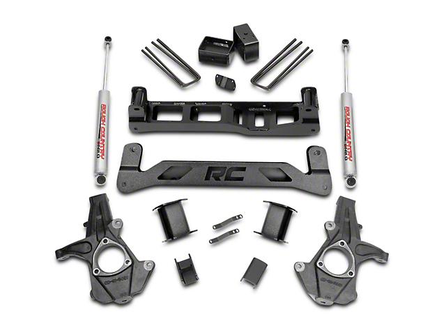 Rough Country 5 in. Suspension Lift Kit w/ Shocks (07-13 2WD Silverado 1500)