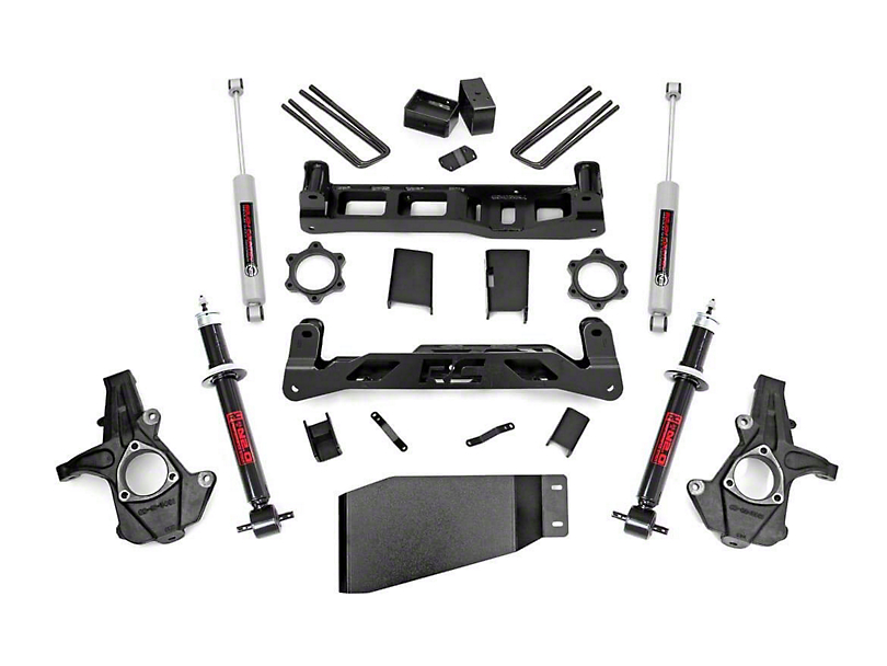 Rough Country 5 in. Suspension Lift Kit w/ Shocks & Struts (07-13 4WD Silverado 1500)