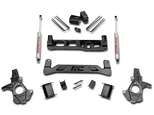 Rough Country 5 in. Suspension Lift Kit w/ Shocks - Knuckle Kit (14-18 2WD Silverado 1500)