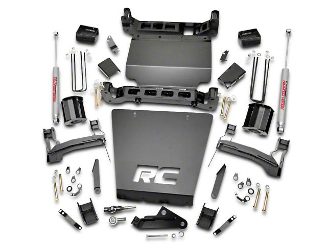 Rough Country 5 in. Suspension Lift Kit w/ Shocks - Bracket Kit (14-18 4WD Silverado 1500)