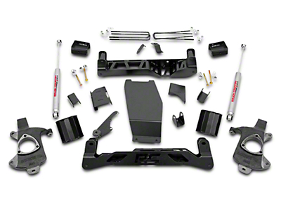 Rough Country 5 in. Suspension Lift Kit w/ Shocks - Knuckle Kit (14-18 4WD Silverado 1500)