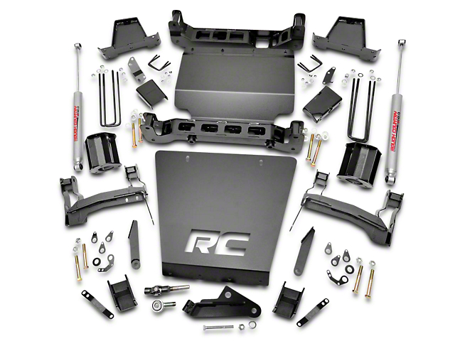 Rough Country 7 in. Suspension Lift Kit w/ Premium N3 Shocks (14-18 4WD Silverado 1500 w/ Stock Cast Steel or Aluminum Control Arms)