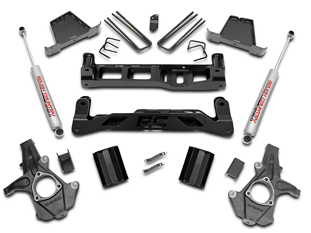 Rough Country 7.5 in. Suspension Lift Kit w/ Shocks (07-13 2WD Silverado 1500)