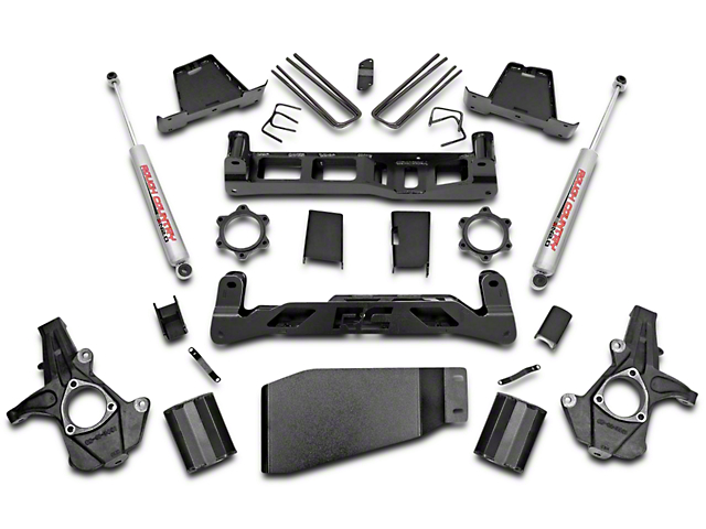 Rough Country 7.5 in. Suspension Lift Kit w/ Premium N3 Shocks (07-13 4WD Silverado 1500)