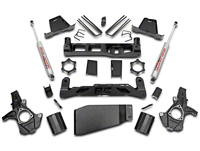 Rough Country 7.5 in. Suspension Lift Kit w/ Shocks (07-13 4WD Silverado 1500)