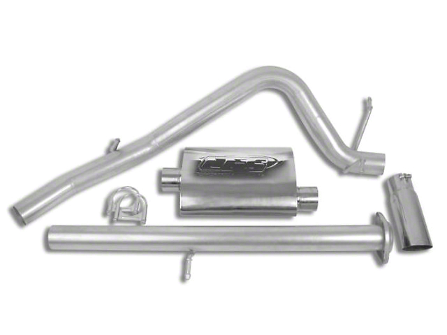 CGS Motorsports Aluminized Single Exhaust System; Side Exit (07-08 4.8L Silverado 1500)