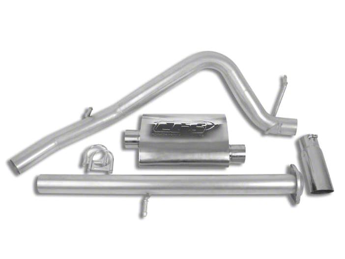 CGS Motorsports Aluminized Single Exhaust System - Side Exit (07-08 5.3L Silverado 1500)