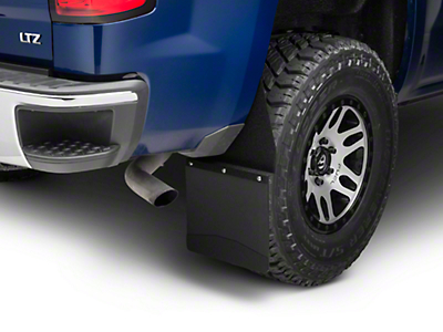 Husky 12 in. Wide KickBack Mud Flaps - Textured Black Top & Weight (07-18 Silverado 1500)