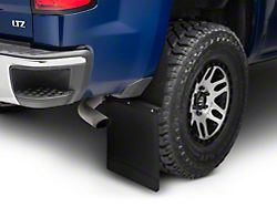 Husky 14-Inch Wide KickBack Mud Flaps; Front or Rear; Textured Black Top and Weight (Universal; Some Adaptation May Be Required)