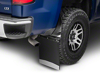 Husky 14 in. Wide KickBack Mud Flaps - Stainless Steel Top & Weight (07-18 Silverado 1500)