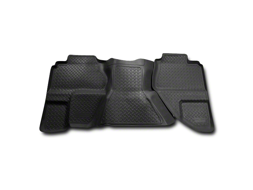 Husky Classic 2nd Seat Floor Liner - Black (07-13 Silverado 1500 Extended Cab, Crew Cab)