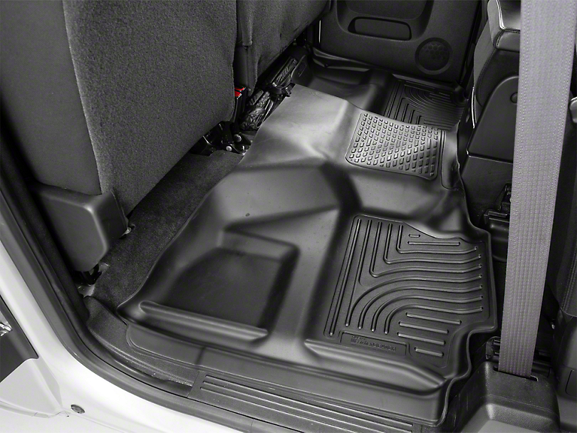 Husky WeatherBeater 2nd Seat Floor Liner - Full Coverage - Black (07-13 Silverado 1500 Extended Cab, Crew Cab)