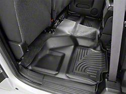 Husky WeatherBeater Second Seat Floor Liner; Full Coverage; Black (07-13 Silverado 1500 Crew Cab)