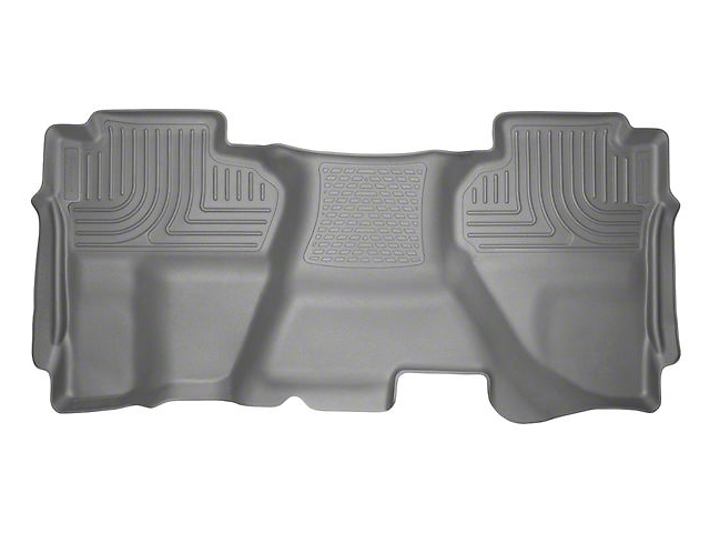 Husky WeatherBeater 2nd Seat Floor Liner - Full Coverage - Gray (07-13 Silverado 1500 Extended Cab, Crew Cab)