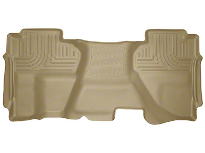 Husky WeatherBeater 2nd Seat Floor Liner - Full Coverage - Tan (07-13 Silverado 1500 Extended Cab, Crew Cab)