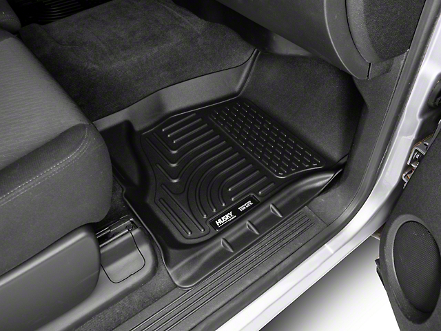 Husky WeatherBeater Front and Second Seat Floor Liners; Footwell Coverage; Black (07-13 Silverado 1500 Extended Cab, Crew Cab)