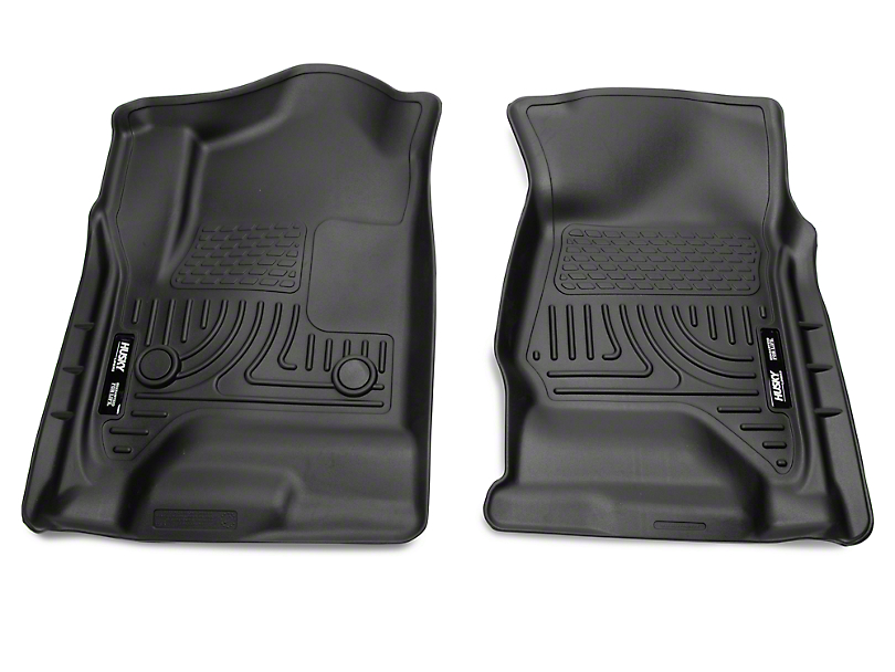 Husky WeatherBeater Front Floor Liners - Black (14-18 Silverado 1500)