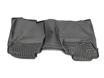Husky WeatherBeater 2nd Seat Floor Liner - Full Coverage - Black (14-18 Silverado 1500 Double Cab)