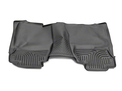 Husky WeatherBeater 2nd Seat Floor Liner - Full Coverage - Black (14-18 Silverado 1500 Double Cab, Crew Cab)