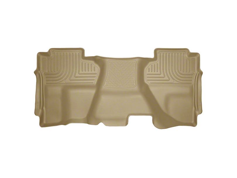 Husky WeatherBeater 2nd Seat Floor Liner - Full Coverage - Tan (14-18 Silverado 1500 Double Cab, Crew Cab)