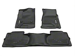 Husky WeatherBeater Front & 2nd Seat Floor Liners - Footwell Coverage - Black (14-18 Silverado 1500 Crew Cab)