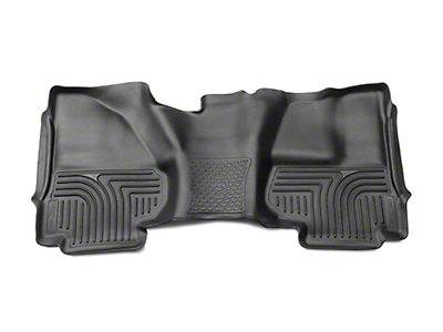 Husky X-Act Contour 2nd Seat Floor Liner - Full Coverage - Black (14-18 Silverado 1500 Double Cab, Crew Cab)