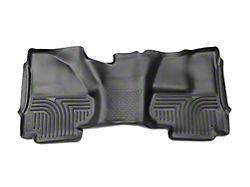Husky X-Act Contour 2nd Seat Floor Liner - Full Coverage - Black (14-18 Silverado 1500 Crew Cab)