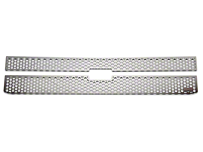 Putco Punch Stainless Steel Upper Overlay Grilles (14-15 Silverado 1500 LT w/ Black Honeycomb Grille)