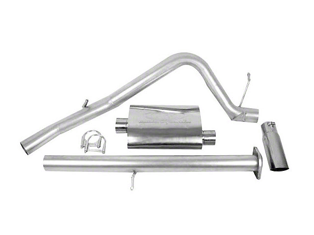 CGS Motorsports Stainless Single Exhaust System; Side Exit (07-08 5.3L Silverado 1500)